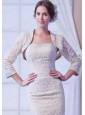 2014 Champagne Long Sleeves Jacket With Lace