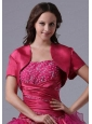 2015 Brand New Style Fuchsia Open Front Quinceanera Jacket
