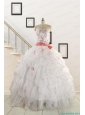 2015 Elegant Sweetheart Quinceanera Dresses with Appliques and Belt