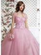 Beautiful Appliques and Beading Light Pink Special Occasion Quinceanera Jacket