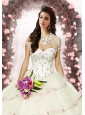 Exquisite Tulle Beading Special Occasion Quinceanera Jacket  in Ivory