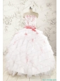 Most Popular Appliques White Quinceanera Dresses