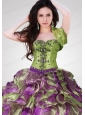 Wonderful Ruffles Organza Olive Green Quinceanera Jacket