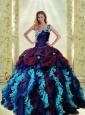 2015 Unique Multi-color Quinceanera Dresses with Ruffles