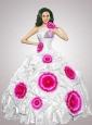 2015 Unique One Shoulder Quinceanera Dresses with Appliques and Pick-ups