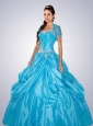 Remarkable Blue Quinceanera Dresses with Appliques For 2015