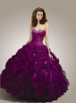 Special Beading and Ruffles Quinceanera Dress with Ruching