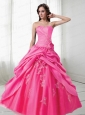 Brand New Ball Gown Strapless Quinceanera Dress with Appliques and Pick-ups