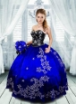 Exquisite Sweetheart Appliques Quinceanera Dresses in Purple For 2015