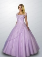 Popular Strapless Appliques and Beading Quinceanera Gown in Lavender