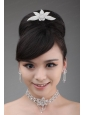 Round shaped Alloy and Rhinestone Dignified Ladies' Necklace and Crown