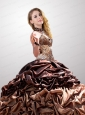 The Most Popular Brown Sweetheart Quinceanera Dresses with Pick-ups For 2015