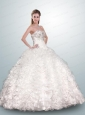 Exquisite White Quinceanera Dress with Beading and Ruffles