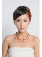 Elegant Alloy With Pearl Rhinestone Jewelry Sets