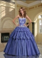 2015 Luxirious Sweetheart Lavender Sweet Sixteen Dresses with Appliques