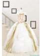 Cheap Strapless White Quinceaneras Dresses with Appliques