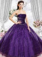 Gorgeous Strapless Purple Quinceanera Dresses with Beading