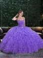 2014 Wonderful Sweetheart Lavender Quinceanera Dresses with Ruffles