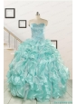 2015 Beautiful Beading Quinceanera Dresses in Apple Green