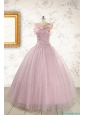 2015 Light Pink Appliques Strapless Sweet 16 Dresses with Wrap