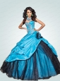 2015 New Style Sweetheart Blue Quinceanera Dresses with Beading and Pick-ups