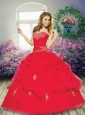 2015 Perfect Appliques Sweetheart Quinceanera Gown in Red