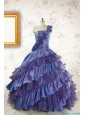 2015 Remarkable One Shoulder Hand Made Flowers and Ruffles Quinceanera