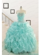 Apple Green Quinceanera Dresses with Beading for 2015