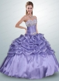 Beautiful Lavender Quinceanera Dresses with Beading and Ruffles