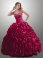 Customize Sweetheart Fuchsia Quince Dress with Beading and Ruffles