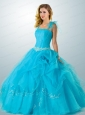 Discount Straps Appliques and Pick Ups Baby Blue Quinceanera Dress