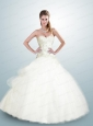 Exclusive Sweetheart Beading and Appliques Quinceanera Dress in White