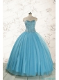 2015 Brand New Style Ball Gown Beading Quinceanera Dress in Baby Blue