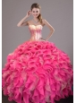 2015 New Style Sweet 16 Dress with Ruffles and Sequins