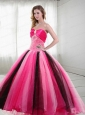 2015 Unique Sweetheart Beading Quinceanera Dresses in Multi-color