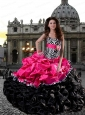 Hot Sale Fashionable Sweetheart Ruffled Pretty Quinceanera Dresses