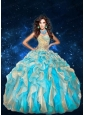 Sweetheart Beading and Ruffles Quinceanera Dresses in Multi-color
