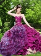 Sweetherat Beading and Pick-ups Quinceanera Gown in Fuchsia