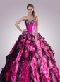 Sweetheart Multi-color Quinceanera Dresses with Beading and Ruffles