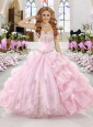 2015 Wonderful Baby Pink Sweetheart Sweet 16 Dress with Appliques and Pick Ups
