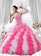 Popular Sweetheart Beading and Ruffles Multi-color Dresses for Quinceanera
