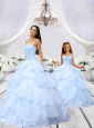 2015 Luxurious Light Blue Princesita Dress with Beading and Ruching