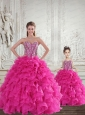 Fuchsia Sweetheart Princesita Dress with Beading and Ruffles
