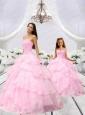 Popular Beading and Ruching Baby Pink Princesita Dress for 2015