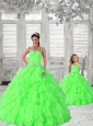 Popular Beading and Ruching Princesita Dress in Green for 2015