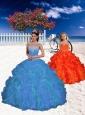 2015 Unique Blue Princesita Dress with Appliques and Beading