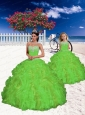 Fashionable Blue Appliques and Beading Princesita Dress in Spring Green