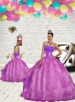 2015 Modern Beading and Embroidery Princesita Dress in Fuchsia