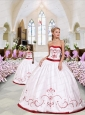 Pretty Embroidery White and Wine Red Princesita Dress for 2015
