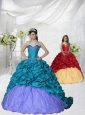Discount Appliques Brush Train Blue and Purple Princesita Dress
